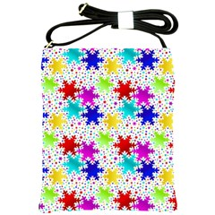 Snowflake Pattern Repeated Shoulder Sling Bags by Amaryn4rt