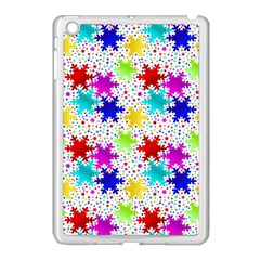 Snowflake Pattern Repeated Apple Ipad Mini Case (white) by Amaryn4rt
