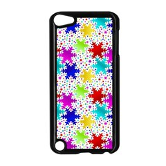 Snowflake Pattern Repeated Apple Ipod Touch 5 Case (black) by Amaryn4rt