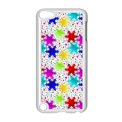 Snowflake Pattern Repeated Apple Ipod Touch 5 Case (white) by Amaryn4rt