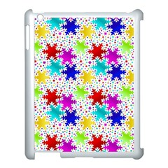 Snowflake Pattern Repeated Apple Ipad 3/4 Case (white) by Amaryn4rt