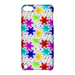 Snowflake Pattern Repeated Apple Ipod Touch 5 Hardshell Case With Stand by Amaryn4rt