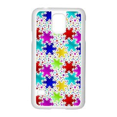 Snowflake Pattern Repeated Samsung Galaxy S5 Case (white) by Amaryn4rt