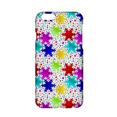 Snowflake Pattern Repeated Apple Iphone 6/6s Hardshell Case by Amaryn4rt