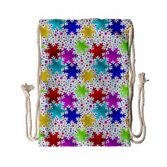 Snowflake Pattern Repeated Drawstring Bag (small) by Amaryn4rt