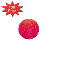 Abstract Red Octagon Polygonal Texture 1  Mini Buttons (100 Pack)  by TastefulDesigns