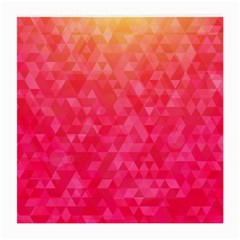 Abstract Red Octagon Polygonal Texture Medium Glasses Cloth (2 Side) by TastefulDesigns