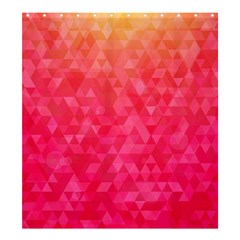 Abstract Red Octagon Polygonal Texture Shower Curtain 66  X 72  (large)  by TastefulDesigns