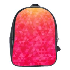 Abstract Red Octagon Polygonal Texture School Bags(large)  by TastefulDesigns