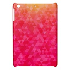 Abstract Red Octagon Polygonal Texture Apple Ipad Mini Hardshell Case by TastefulDesigns