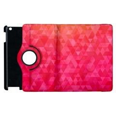 Abstract Red Octagon Polygonal Texture Apple Ipad 2 Flip 360 Case