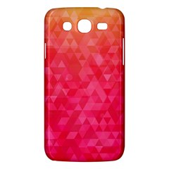Abstract Red Octagon Polygonal Texture Samsung Galaxy Mega 5 8 I9152 Hardshell Case  by TastefulDesigns
