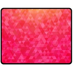 Abstract Red Octagon Polygonal Texture Double Sided Fleece Blanket (medium)  by TastefulDesigns