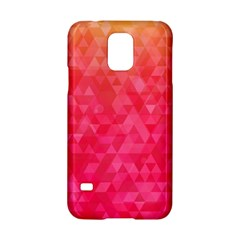 Abstract Red Octagon Polygonal Texture Samsung Galaxy S5 Hardshell Case  by TastefulDesigns