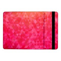 Abstract Red Octagon Polygonal Texture Samsung Galaxy Tab Pro 10 1  Flip Case by TastefulDesigns