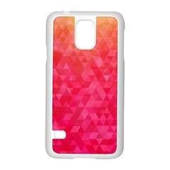 Abstract Red Octagon Polygonal Texture Samsung Galaxy S5 Case (white) by TastefulDesigns