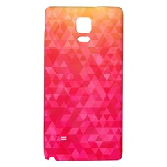Abstract Red Octagon Polygonal Texture Galaxy Note 4 Back Case by TastefulDesigns