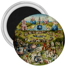 Hieronymus Bosch Garden Of Earthly Delights 3  Magnets by MasterpiecesOfArt