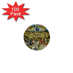 Hieronymus Bosch Garden Of Earthly Delights 1  Mini Buttons (100 Pack)  by MasterpiecesOfArt