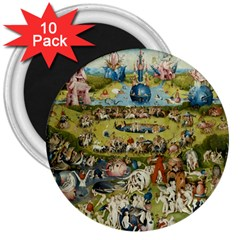 Hieronymus Bosch Garden Of Earthly Delights 3  Magnets (10 Pack)  by fineartgallery
