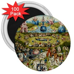 Hieronymus Bosch Garden Of Earthly Delights 3  Magnets (100 Pack) by MasterpiecesOfArt