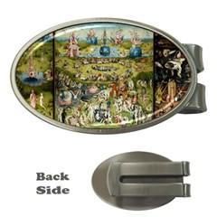 Hieronymus Bosch Garden Of Earthly Delights Money Clips (oval)  by MasterpiecesOfArt