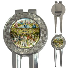 Hieronymus Bosch Garden Of Earthly Delights 3 In 1 Golf Divots by MasterpiecesOfArt