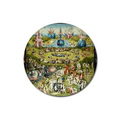 Hieronymus Bosch Garden Of Earthly Delights Magnet 3  (round) by MasterpiecesOfArt