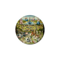 Hieronymus Bosch Garden Of Earthly Delights Golf Ball Marker (10 Pack) by MasterpiecesOfArt