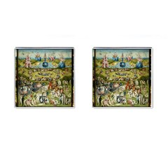 Hieronymus Bosch Garden Of Earthly Delights Cufflinks (square) by MasterpiecesOfArt