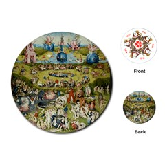 Hieronymus Bosch Garden Of Earthly Delights Playing Cards (round)  by MasterpiecesOfArt