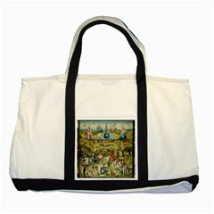 Hieronymus Bosch Garden Of Earthly Delights Two Tone Tote Bag by MasterpiecesOfArt
