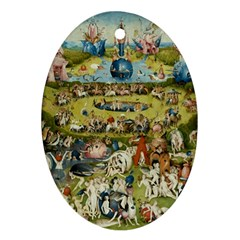 Hieronymus Bosch Garden Of Earthly Delights Oval Ornament (two Sides) by MasterpiecesOfArt