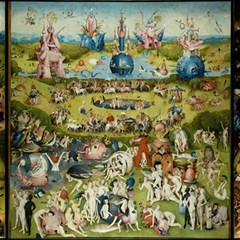 Hieronymus Bosch Garden Of Earthly Delights Canvas 16  X 16   by MasterpiecesOfArt
