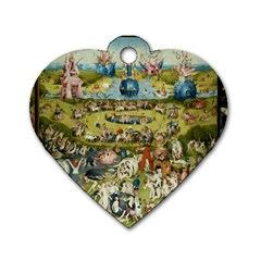 Hieronymus Bosch Garden Of Earthly Delights Dog Tag Heart (two Sides)