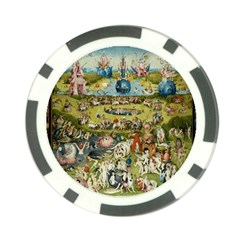 Hieronymus Bosch Garden Of Earthly Delights Poker Chip Card Guard by MasterpiecesOfArt