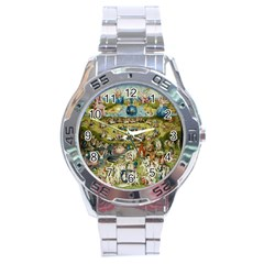 Hieronymus Bosch Garden Of Earthly Delights Stainless Steel Analogue Watch by MasterpiecesOfArt
