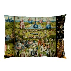 Hieronymus Bosch Garden Of Earthly Delights Pillow Case (two Sides) by MasterpiecesOfArt