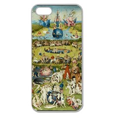 Hieronymus Bosch Garden Of Earthly Delights Apple Seamless Iphone 5 Case (clear) by MasterpiecesOfArt