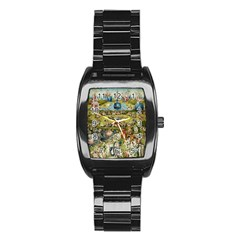 Hieronymus Bosch Garden Of Earthly Delights Stainless Steel Barrel Watch by MasterpiecesOfArt