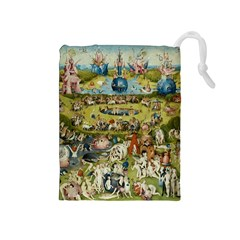 Hieronymus Bosch Garden Of Earthly Delights Drawstring Pouches (medium)  by MasterpiecesOfArt