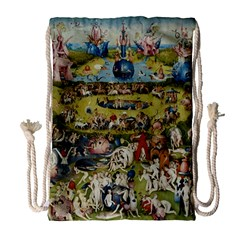 Hieronymus Bosch Garden Of Earthly Delights Drawstring Bag (large) by MasterpiecesOfArt