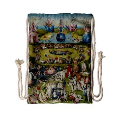 Hieronymus Bosch Garden Of Earthly Delights Drawstring Bag (small) by MasterpiecesOfArt