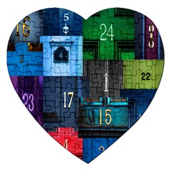 Door Number Pattern Jigsaw Puzzle (heart) by Amaryn4rt