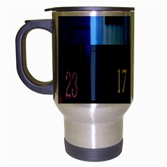 Door Number Pattern Travel Mug (silver Gray) by Amaryn4rt