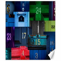Door Number Pattern Canvas 20  X 24   by Amaryn4rt
