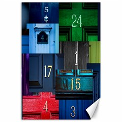 Door Number Pattern Canvas 24  X 36  by Amaryn4rt
