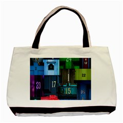 Door Number Pattern Basic Tote Bag (two Sides) by Amaryn4rt