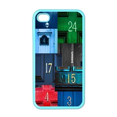 Door Number Pattern Apple Iphone 4 Case (color) by Amaryn4rt
