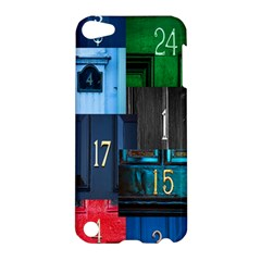 Door Number Pattern Apple Ipod Touch 5 Hardshell Case by Amaryn4rt